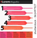 5 steps infographic template.... | Shutterstock .eps vector #361497527