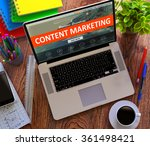 Content Marketing On Laptop...