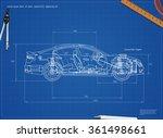 detailed engineering blueprint... | Shutterstock .eps vector #361498661