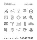 navigation  direction  maps ... | Shutterstock .eps vector #361499231