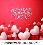 realistic 3d colorful romantic... | Shutterstock .eps vector #361502291