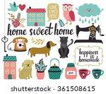 vector set of different vintage ... | Shutterstock .eps vector #361508615