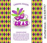 mardi gras bright vector... | Shutterstock .eps vector #361509797