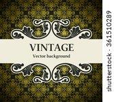 vintage vector background | Shutterstock .eps vector #361510289
