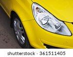 closeup headlights of modern... | Shutterstock . vector #361511405