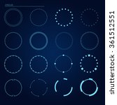 vector circles elements for...