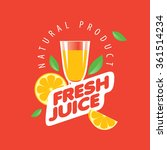 logo of fresh juice | Shutterstock .eps vector #361514234