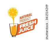 logo of fresh juice | Shutterstock .eps vector #361514249