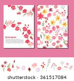 floral summer templates. for... | Shutterstock .eps vector #361517084