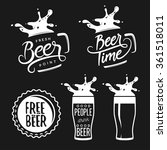 beer related typography. vector ... | Shutterstock .eps vector #361518011