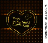 happy valentines day gold... | Shutterstock . vector #361523075