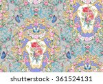 seamless composition with roses ... | Shutterstock . vector #361524131
