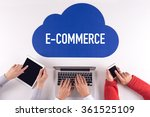 cloud technology with a word e... | Shutterstock . vector #361525109