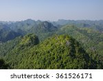 jungle and mountain panorama of ...   Shutterstock . vector #361526171