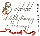 font with floral ornaments and...   Shutterstock .eps vector #361527167