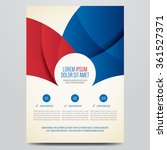 flyer  brochure  annual report  ... | Shutterstock .eps vector #361527371