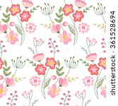 seamless pattern with stylized... | Shutterstock .eps vector #361528694