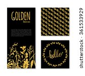set of glitter golden leaves... | Shutterstock .eps vector #361533929