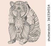 patterned bear zentangle style... | Shutterstock . vector #361534514