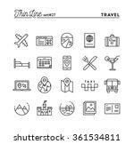 travel  flight  accommodation ... | Shutterstock .eps vector #361534811