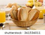 brazilian cheese buns . table... | Shutterstock . vector #361536011