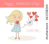 happy valentine's day card with ...   Shutterstock .eps vector #361538264