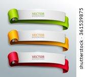 vector banners set. | Shutterstock .eps vector #361539875