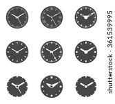 clock icon set   isolated... | Shutterstock .eps vector #361539995