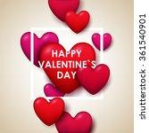 valentine s day background.... | Shutterstock .eps vector #361540901