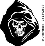 hooded skull | Shutterstock .eps vector #361542539