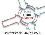 creative arrows motivation... | Shutterstock .eps vector #361545971