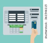 atm terminal and credit card ... | Shutterstock .eps vector #361546115