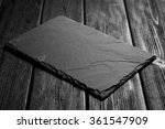 black slateboard on dark wood   Shutterstock . vector #361547909