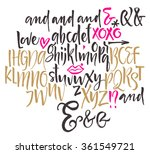 vector alphabet. hand drawn...   Shutterstock .eps vector #361549721