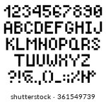 pixel letters and numbers ... | Shutterstock .eps vector #361549739