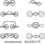 set of decorative vintage... | Shutterstock .eps vector #361552175