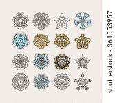 set of ornate vector mandala... | Shutterstock .eps vector #361553957