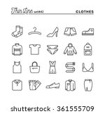 clothing  thin line icons set ... | Shutterstock .eps vector #361555709