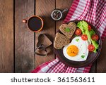 breakfast on valentine's day  ... | Shutterstock . vector #361563611