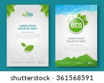 eco brochure design vector... | Shutterstock .eps vector #361568591