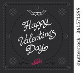 happy valentines day hipster... | Shutterstock .eps vector #361571399