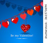 happy valentines day card... | Shutterstock .eps vector #361573694