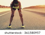 tired woman runner taking a... | Shutterstock . vector #361580957