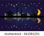 dortmund skyline night | Shutterstock .eps vector #361581251