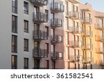 modern new building with... | Shutterstock . vector #361582541