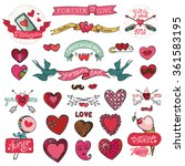 valentines day design labels... | Shutterstock .eps vector #361583195