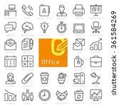 Office Line Icon Set