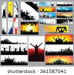 big collection of silhouettes... | Shutterstock .eps vector #361587041