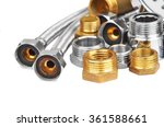 plumbing fitting and hosepipe ... | Shutterstock . vector #361588661
