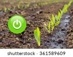 green power button to stand for ... | Shutterstock . vector #361589609